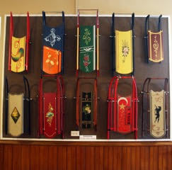 Antique sled exhibit